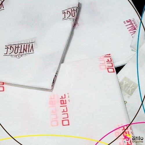 Papel de seda personalizado para lojas