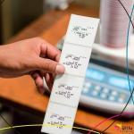 Etiqueta adesiva para balança térmica